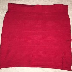 Forever21 Pull On Red Pencil Skirt Medium